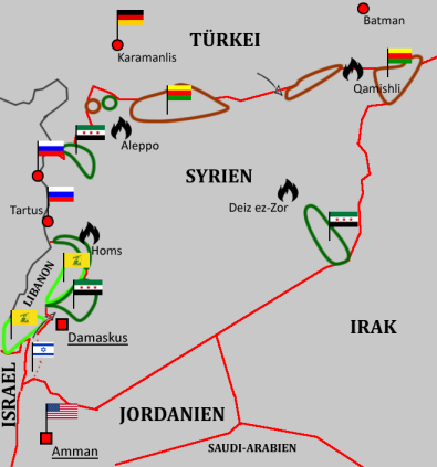 Syrien-Karte des Heartland-Blog